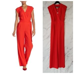 New DVF Purdy Jumpsuit in Candy Red